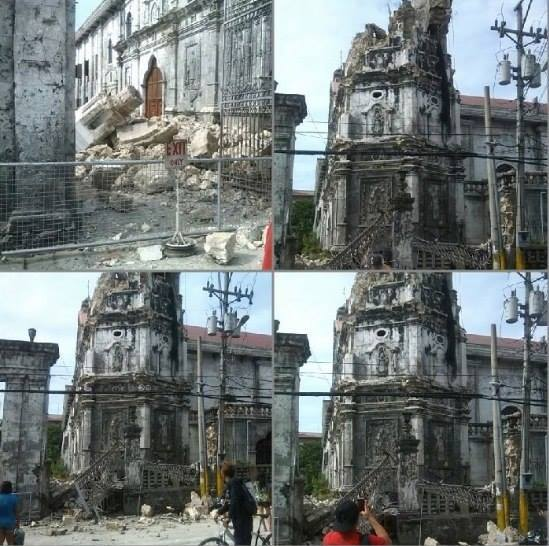 National treasure Sto. Nino Church damaged by Cebu's 7.2 Magnitude Earthquake